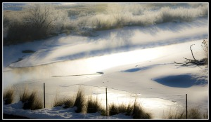snowy jordan river